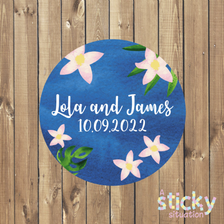Personalised Beach Wedding Favour Stickers